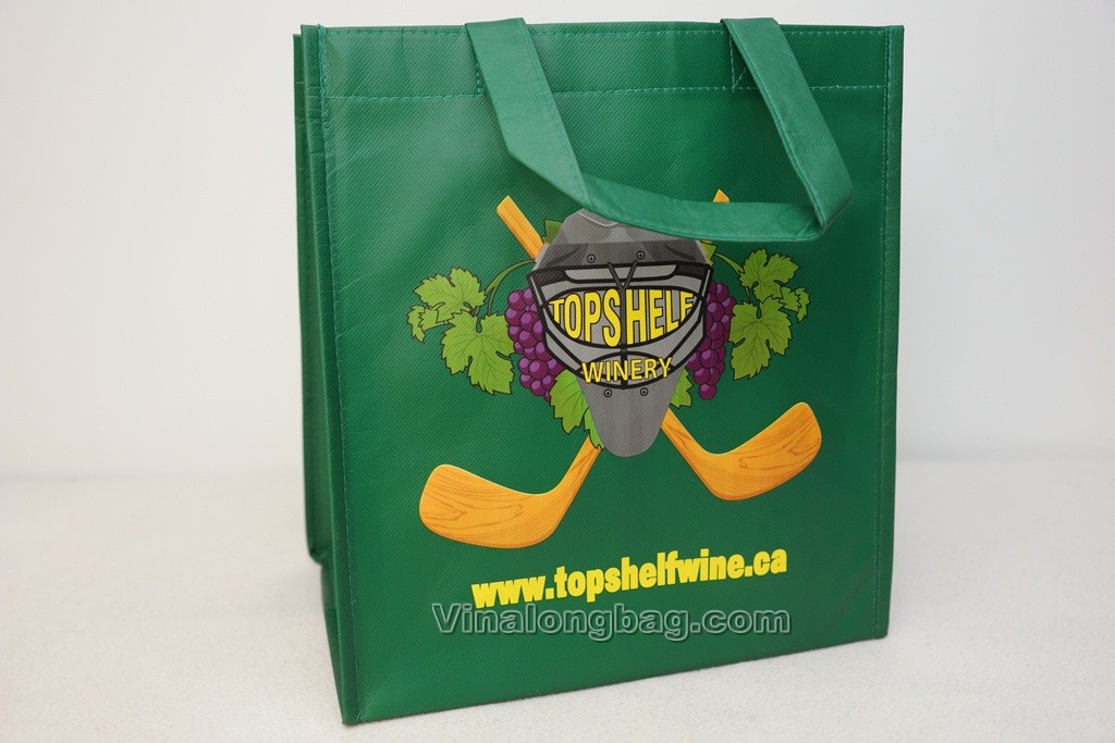 Wine bag made from PP non woven laminated