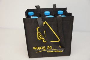 6 bottle bags with silk printing