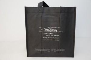 6 bottles bag non woven handles non woven X sewing