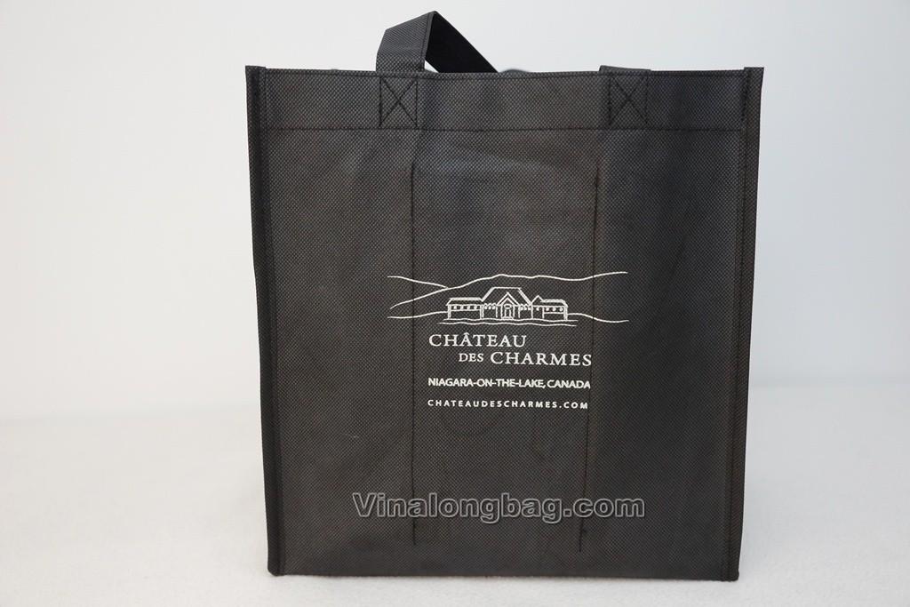 Black bottle holder PP non woven bag