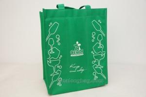 6 bottles non woven bag water based silk printing