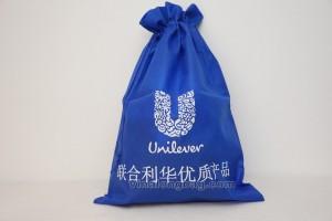 Non woven bag Unilever with closing string