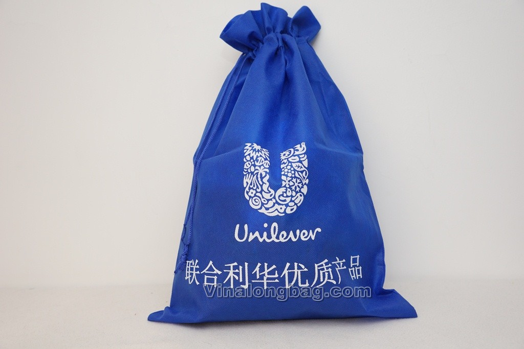 PP non woven bag with closing string