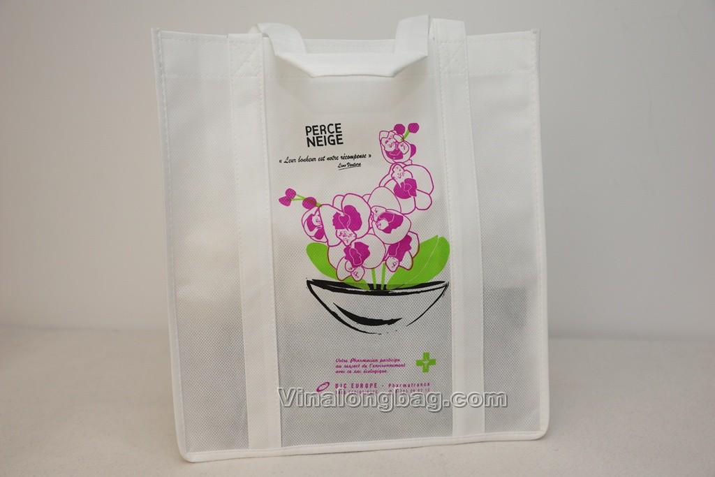PP nonwoven bag with rubber based printing