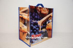 PP non woven glossy lamination with hook X sewing inside 2
