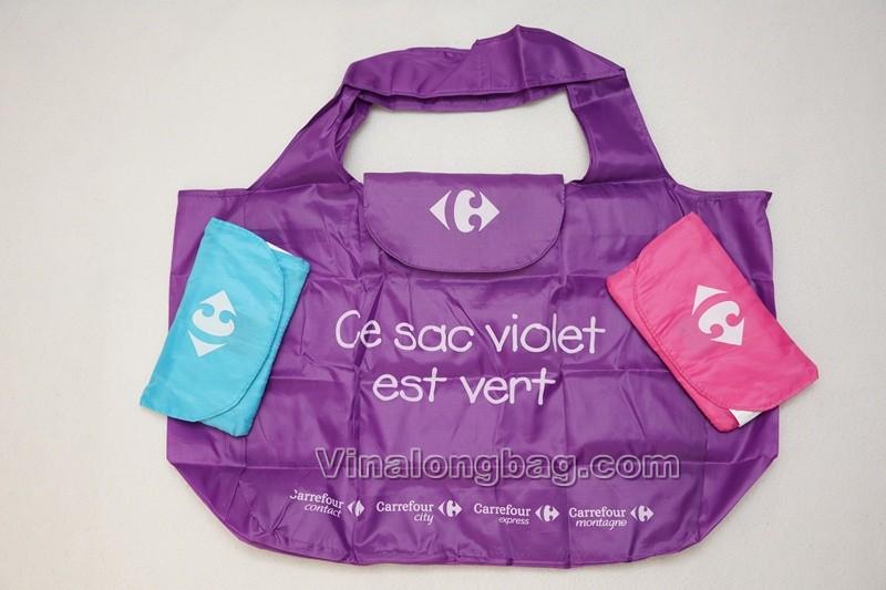 Nylon shopping bag with small pocket | VINA LONG BAG CO., LTD