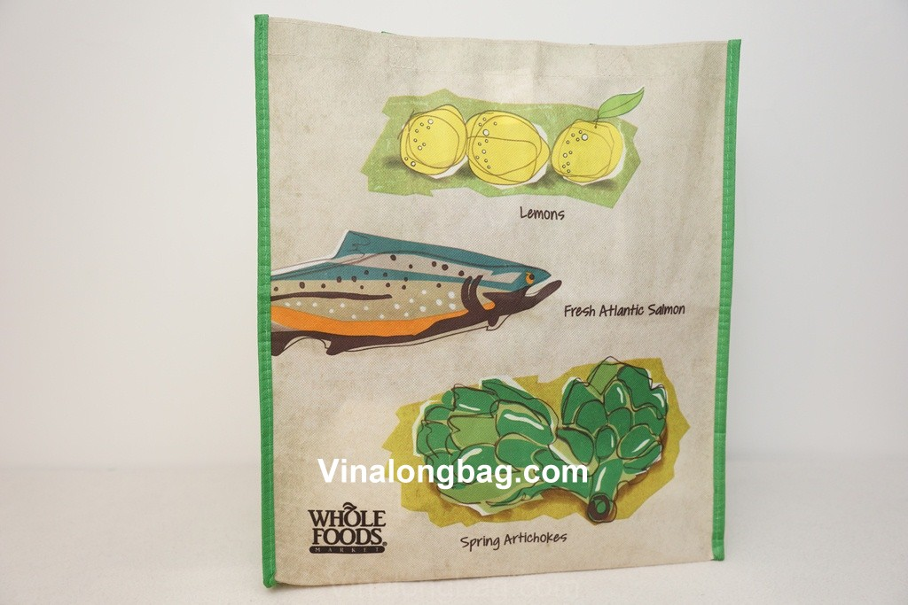 Shopping bag made from recycled material
